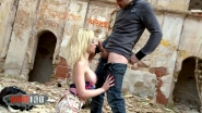 Fucked hot girlfriend in abandoned building